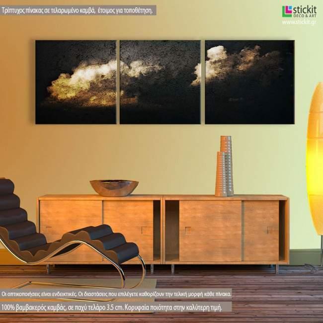 Night Sky, τρίπτυχος πανοραμικός πίνακας σε καμβά (multipanel)