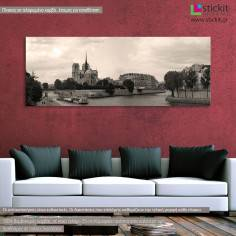 Notre Dame de Paris, πανοραμικός πίνακας σε καμβά