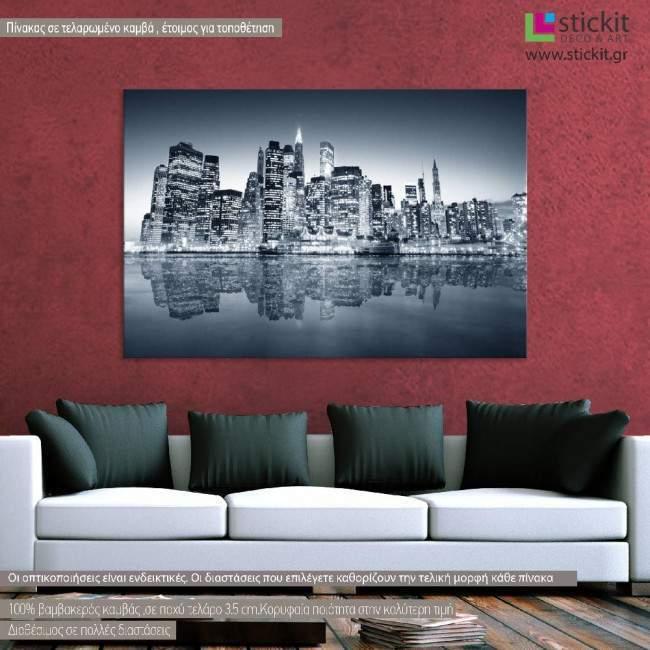 New York , Manhattan Panorama, πίνακας σε καμβά