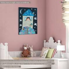 Όνειρα γλυκά, παιδικός - βρεφικός πίνακας σε καμβά