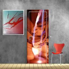 Φαράγγι με αχτίδες ήλιου, αυτοκόλλητο πόρτας