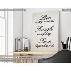 Live every Moment, πίνακας σε καμβά