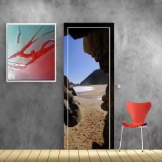 Η κρυφή παραλία, αυτοκόλλητο πόρτας