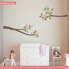 Elegant tree branch, αυτοκόλλητο τοίχου με όμορφα κλαδιά
