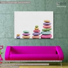 Stone piles colorful, πίνακας σε καμβά
