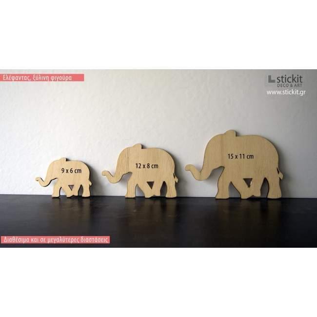 Ελέφαντας, ξύλινη φιγούρα διακοσμητική
