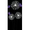 Πεταλούδες Και Λουλούδια, αυτοκόλλητο τοίχου, κοντινό