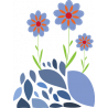 Θέμα Με Λουλούδια, αυτοκόλλητο τοίχου