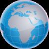 Ο γαλάζιος πλανήτης μας Αυτοκόλλητο τοίχου, κοντινό
