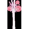 Butterflies tree , λευκός κορμός, αυτοκόλλητο τοίχου, κοντινό