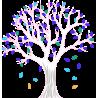 Lime tree, εναλλακτικά χρώματα, αυτοκόλλητο τοίχου