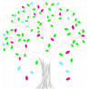 Lime tree, εναλλακτικά χρώματα 2, αυτοκόλλητο τοίχου