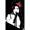 Amy Winehouse Αυτοκόλλητο τοίχου, κοντινό
