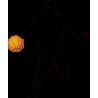 Μπασκετμπολίστας 1, αυτοκόλλητο τοίχου , κοντινό