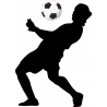 Ποδοσφαιριστής I, αυτοκόλλητο τοίχου , κοντινό