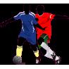 Ποδοσφαιριστές II, Αυτοκόλλητο τοίχου , κοντινό
