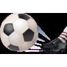 Ποδόσφαιρο Αυτοκόλλητο τοίχου , κοντινό