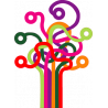 Δέντρο γραμμών, αυτοκόλλητο τοίχου