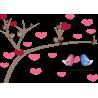 Πουλιά σε κούνια, αυτοκόλλητο τοίχου