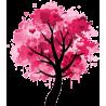 Splash tree!, αυτοκόλλητο τοίχου, κοντινό
