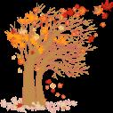 Αυτοκόλλητο τοίχου, Φθινοπωρινό δέντρο