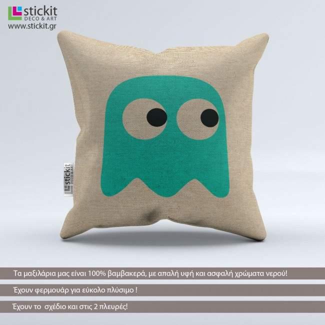 Pac-Man Inky Ghost, διακοσμητικό μαξιλάρι