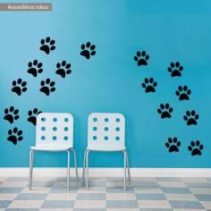 Πατουσάκια σκύλου, αυτοκόλλητο τοίχου