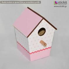 Φωλιές πουλιών ξύλινες (birds house) , σχέδιο 2