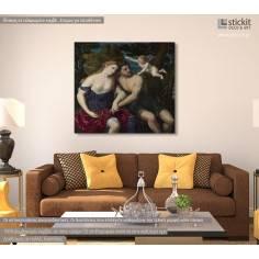 A pair of lovers, Paris Bordone, αντίγραφο - αναπαραγωγή πίνακα σε καμβά