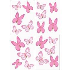 Ροζ πεταλούδες , αυτοκόλλητα τοίχου