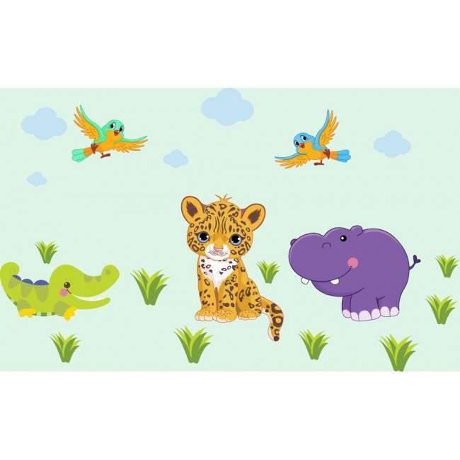 Επιπλέον ζωάκια , σύννεφα και γρασίδι , αυτοκόλλητα τοίχου