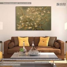 Blossoming almond tree (brown), Van Gogh, αντίγραφο - αναπαραγωγή πίνακα σε καμβά