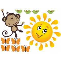 Monkeys Joy , συμπληρωματικά αυτοκόλλητα