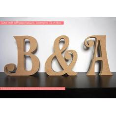 Ξύλινα καλλιγραφικά γράμματα,αυτοστηριζόμενα (Freestanding) γραμματοσειρά Curves