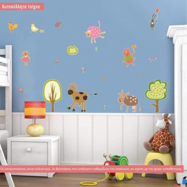 Mini συλλογή, Παιδικά, Σετ 4, αυτοκόλλητο τοίχου