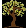 Lime tree, εναλλακτικά χρώματα 2, αυτοκόλλητο τοίχου, λεπτομέρεια exc