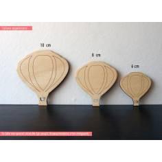 Αερόστατο, ξύλινη φιγούρα διακοσμητική