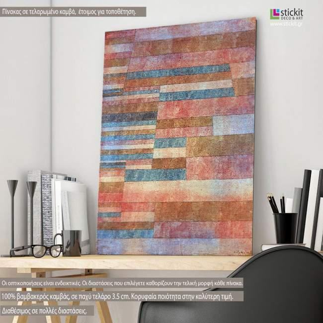 Steps, Paul Klee, αναπαραγωγή σε καμβά , κάθετο