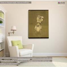 Ghost of a genius, Paul Klee, αντίγραφο - αναπαραγωγή πίνακα σε καμβά