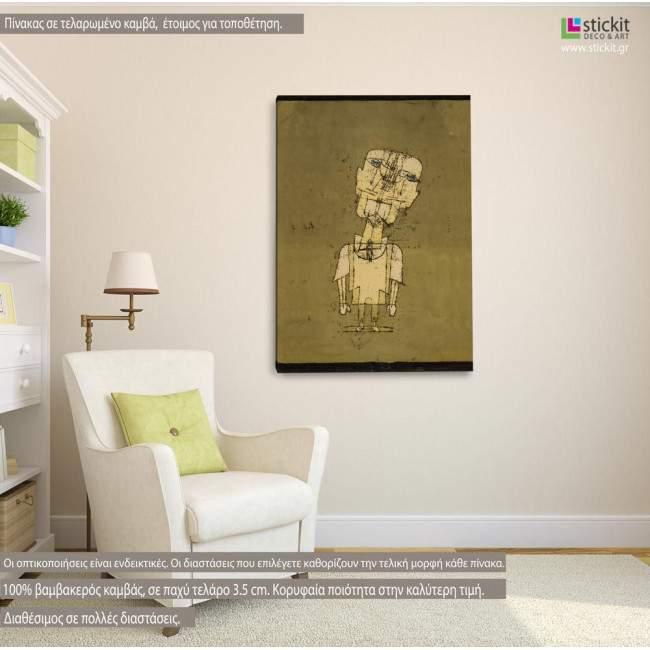 Ghost of a Genius, Paul Klee, αναπαραγωγή σε καμβά , κάθετο