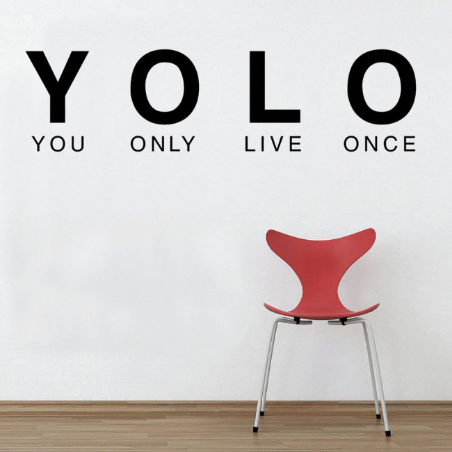 YOLO ( You only live once), αυτοκόλλητο τοίχου