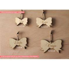 Φιογκάκι ξύλινο με ευχές ή όνομα