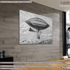 Airship, πίνακας σε καμβά, αναγέννηση, γκραβούρα
