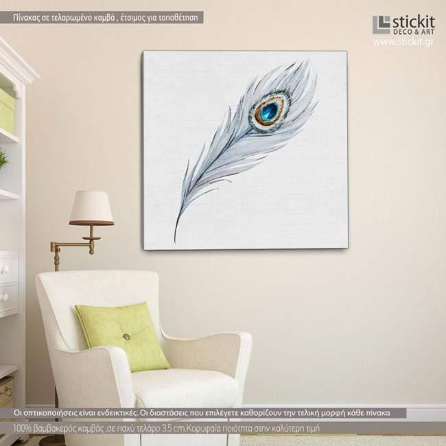 Feather, πίνακας σε καμβά