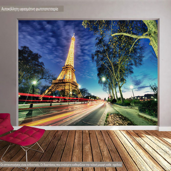 Paris lights, φωτογραφική ταπετσαρία αυτοκόλλητη