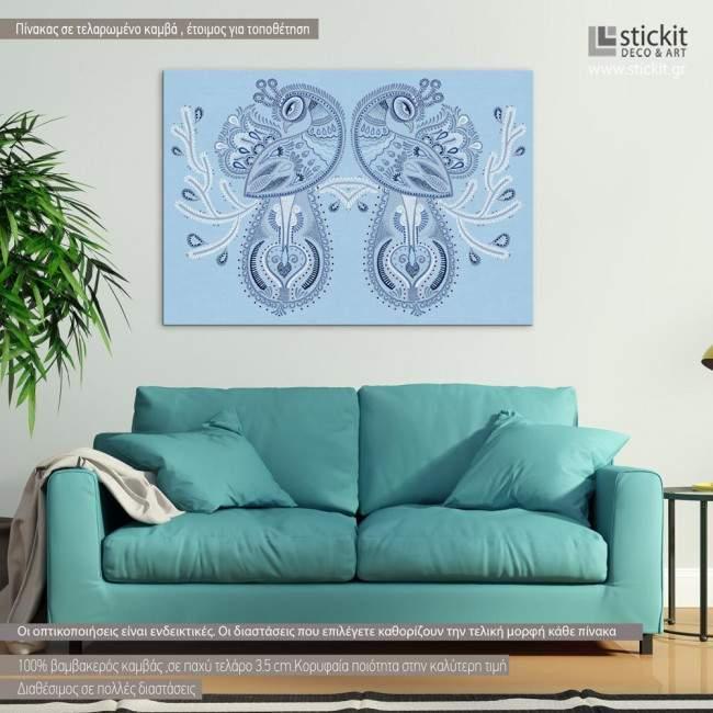 Peacocks, πίνακας σε καμβά