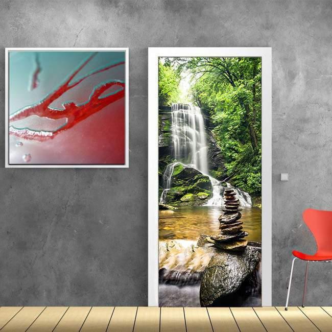 New Zealand falls , αυτοκόλλητο πόρτας, ντουλάπας , αυτοκόλλητο πόρτας, ντουλάπας