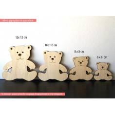 Αρκουδάκι χαμογελαστό, ξύλινη φιγούρα διακοσμητική