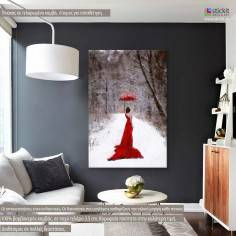Red Lady, πίνακας σε καμβά
