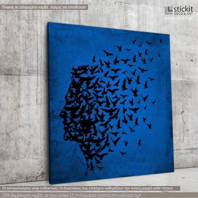 Human spirit, Τετράγωνος πίνακας σε καμβά